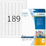 HERMA Special - Pacco da 4.725 etichette adesive ad alta aderenza, in fogli formato A4, 25,4 x 10 mm, colore: bianco