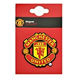 Manchester United FC Official 3D Football Crest Fridge Magnet (One Size) (Red/Yellow)