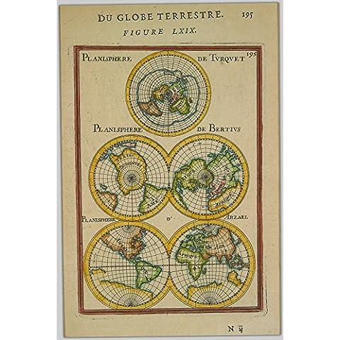 POSTER Du globe terrestre. Figure LXIX Columbia British University Wall Art Print A3 replica