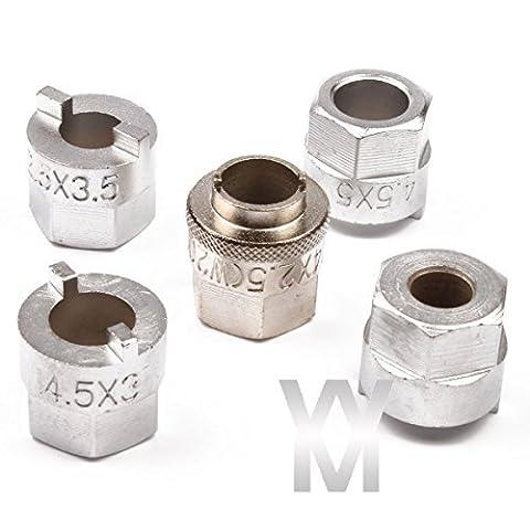 Qbace CT0362 5 Piece Strut Nut Tool Set