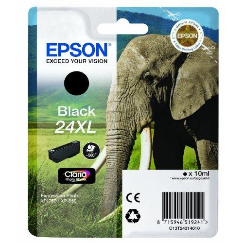 1x Cartouche d'encre d'origine pour EPSON Expression Photo XP 55, c13t24314010–Black -
