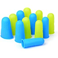 Custodie Proteggi Dito Salvadita in Silicone, 12 Pezzi Protezione Dita Finger Protezioni per le Dita per Colla a Caldo…
