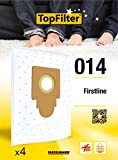 TopFilter 014, 4 sacs aspirateur pour Firstline, boîte de sacs d'aspiration en non-tissé, 4 sacs à poussière (30 x 26 x 0,1 cm)