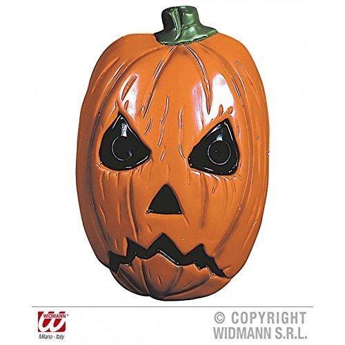 Horrormaske Kürbis / Plastikmaske / Halloweenmaske / Kürbiskopf / Fasching / (Maske Kürbiskopf)