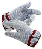 EveryKid Sarian Mädchenhandschuhe Kleinkind Fingerhandschuhe Handschuhe Strickhandschuhe aus Merinowolle für Kinder (SA-SL-1068-W18-MA0-13-8-98/116) in Grau-Rot, Größe 98/116 inkl Fashionguide