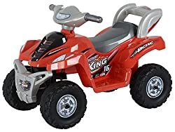 Toyhouse Desert King Small ATV Bike 6V Rechargeable Battery Operated Ride On, Red