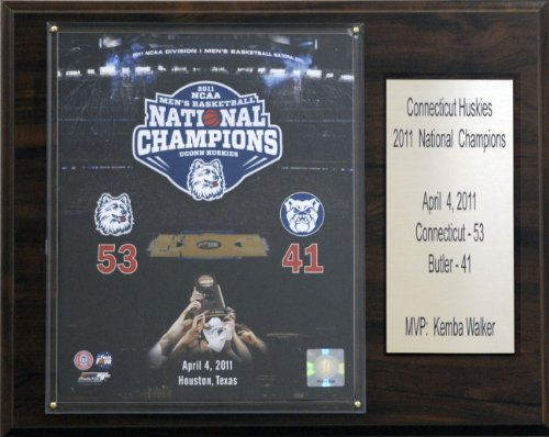 C & I Collectables NCAA Basketball Connecticut Huskies 2011Champions Plaque