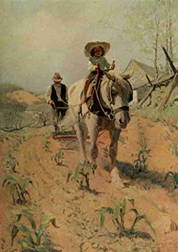 a4-photo-wyeth-newell-c-1882-1945-scribners-64-1908-ploughing-poster