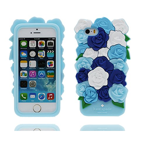 Housse Coque pour iPhone 5 / 5S, TPU Gel Shell pour les filles Shell Cover iPhone SE 5C 5G étui - Lovely 3D Cartoon cactus fleur, Anti-rayures-anti-rayures # 1