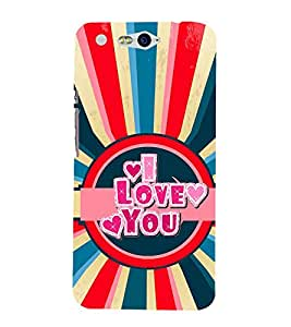 Fiobs Designer Back Case Cover for InFocus M812 (I Love You Quote Red Blue)