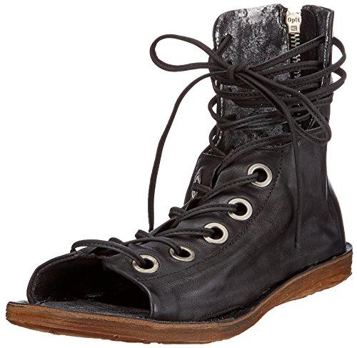 A.S.98 Ramos, Botines Para Mujer, Mehrfarbig (Black Grey Black Black 0001), 37 EU