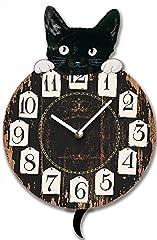 Idea Regalo - OROLOGIO DA PARETE DESIGN LUCKY CAT PENDOLO OROLOGIO PER CUCINA O SALOTTO NUOVO