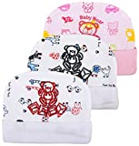 #8: Mini Berry Baby Cotton Cap For Newborn Infant Baby 0-3 Months (White Printed)