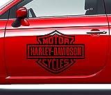Aufkleber Harley Davidson Logo Motor Cycles Größe M