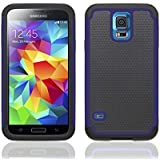 Galaxy S5 Heavy Duty Case, OSurce Samsung Galaxy S5 Accessories, EXTREME Protection Case Cover For Galaxy S5 - Navy Blue