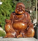 Super schöner 20 cm BUDDHA Happy HOLZ BUDDA FENG SHUI Bali Buda BH20