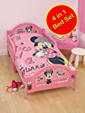 Minnie Mouse 'Shopaholic' 4 in 1 Junior Panel Bed Set (Duvet + Pillow + Covers)