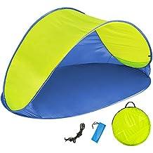 Pop Up Strandmuschel Sonnenzelt mit verstellbarem Dach und Tasche Farbwahl