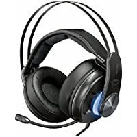 Trust GXT 383 Dion Cuffie Gaming Illuminate Surround 7.1, con Connessione Ottica e USB, Nero