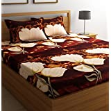 Ashu Decor Microfiber 3D Printed Double Bedsheet  (1 Double bed sheet with 2 pillow covers, Multicolor