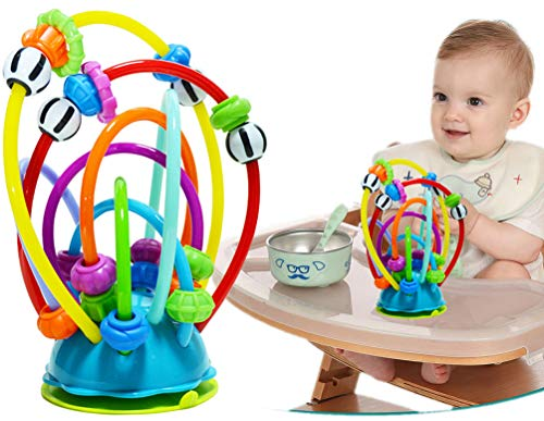 COLOOM Newborn Baby First Bead Maze Educational Toy Activity Loops Teether Early Development Baby Highchair Suction Toy, Essential baby toys, toys for every developmental stage, baby toys, must have baby toys, the best toys for babies, gift ideas for babies, Christmas baby gift ideas, gifts for babies