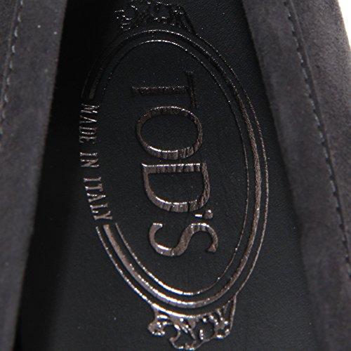 66714mocassino TOD'S DOPPIA T. PELLE scarpa donna loafer shoes women Grigio
