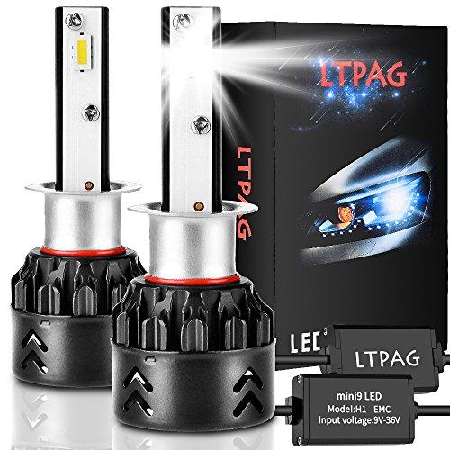 Lampadina H1 Led, CSP 72W 12000 LM Fari Abbaglianti o Anabbaglianti per Auto Kit - Sostituzione per Luci Alogene o Lampade Hid Lampada Luminosa - 2 Anni Di Garanz