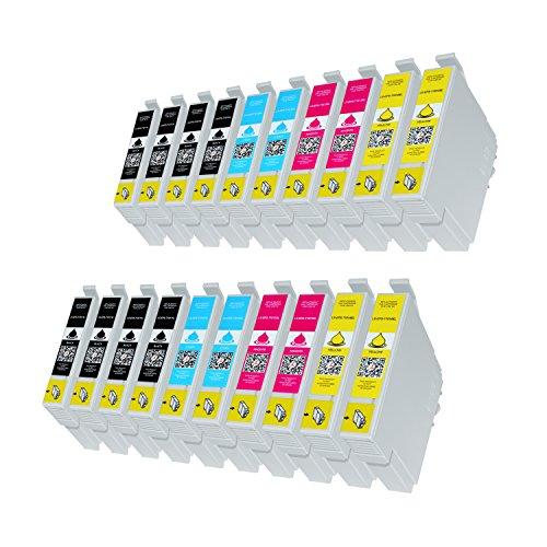 20 Premium Druckerpatronen kompatibel für Epson T1811, T1812, T1813, T1814 für Expression Home XP-102 XP-202 XP-205 XP-30 XP-302 XP-305 XP-402 XP-405