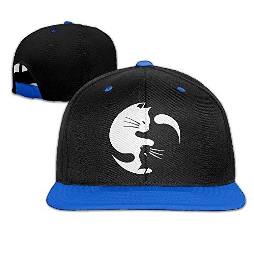 fboylovefor Men Women Cat Ying Yang 1 Hip Hop Baseball Caps Snapback Hats