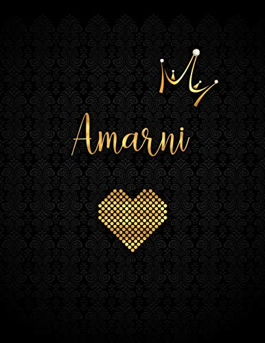 Amarni: Black Personalized Lined Journal with Inspirational Quotes