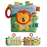 FOONEE Baby Early Learning Book Newborn Book, Kids Early Education Interactive Soft Book