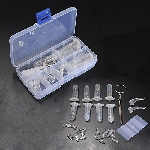 Inovey Brillen-Sonnenbrille-Gläser Schrauben-Mutter-Nasen-Auflage-Satz-Reparatur-Werkzeug-Installationssatz