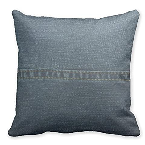 Just Redo Blue Denim Throw Pillow Case Covers Decorative Throw Pillows