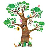 Decowall DL-1709 Arbre Géant Animaux Autocollants Muraux Mural Stickers Chambre...