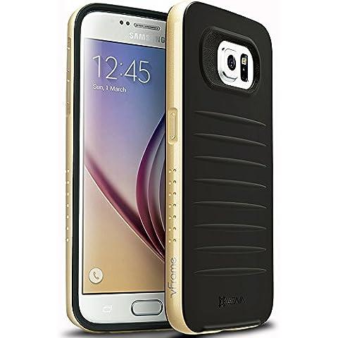 Samsung Galaxy S6 Funda - Vena [vFrame] Marco de aluminio ultra delgado de híbrida caso para Samsung Galaxy S6 (Champagne oro)