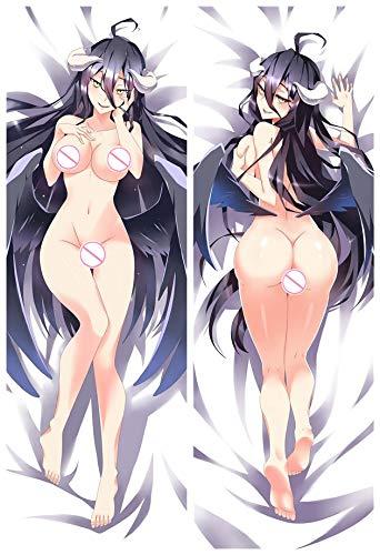 Home Goodnight Albedo -Overlord 2 Way Tricot 160cm x 50cm Anime Körper Kissenbezug (Körper Anime Kissenbezug)