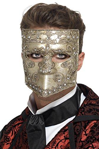 Smiffy's 27637 - Luxus Venetian Bauta Maskerade-Masken, ()