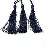 10 QUASTEN Tassel Nylon Anhänger Dunkel Blau 12cm für Schmuckherstellung DEK26