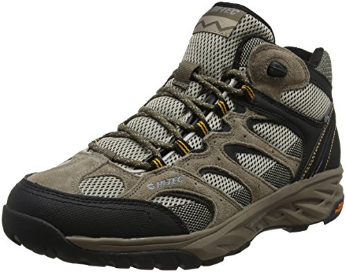 Hi-Tec Herren Wild-Fire Mid I Waterproof Trekking-& Wanderstiefel, Beige (Taupe/dune/core Gold), 44 EU (10 UK) Mountain Suede Boot