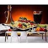 Pmhhc Fototapete Getränke Gemüse Highball Glas Pasta Food Tapete Fast Food Shop Restaurant Esszimmer Küche Wandbilder-400X280Cm