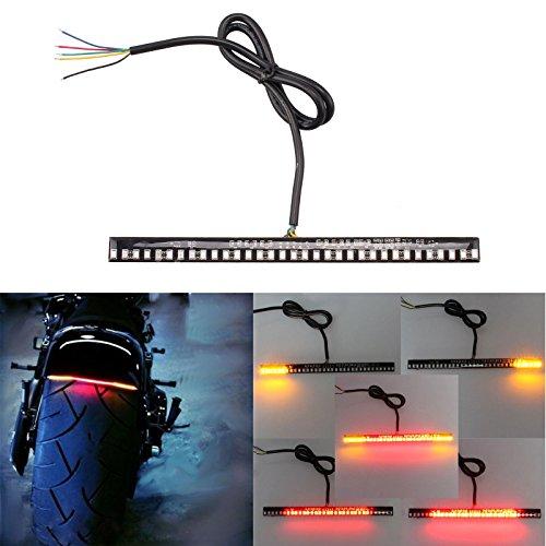 Preisvergleich Produktbild Universal flexibler LED Blinker Schwanz Bremslicht Kennzeichenbeleuchtung integrierten für Motorrad Bike ATV Auto Wohnmobil-SUV Bremse Running Rücklicht links rechts drehen Signal Lampe