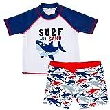 Baby Jungen Zweiteiler Badeanzug Bademode - Kleinkind Schwimmset Kinder Kurzarm Schwimmen T-Shirt und Badeshorts 1-6 Jahre