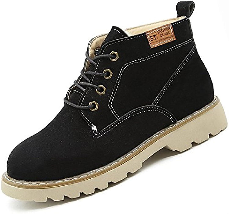ZHZNVX HSXZ Zapatos de Mujer Moda Otoño Invierno PU Confort Botas Botas Talón Plano nulo Ronda Toe Botas/Mid-Calf...