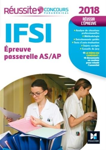Russite Concours IFSI Passerelle AS/AP - Examen 2018 N18