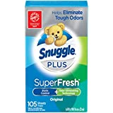 Snuggle Plus Super Fresh Fabric Softener Dryer Sheets (Sèche-linge, lingettes, de nuque) 105