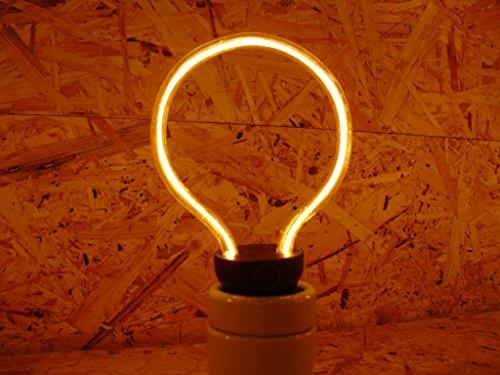 MMElectric RING GLOBO Vintage Golden Led. Dimmbare Kreisförmige Led Glühbirne 230v 8w 2200k e27. 440 Lumen 15.000 Stunden 145 x 86 mm