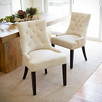 DERRYS Upholstered Lion Knocker Dining Chair Wood Grey Amazon