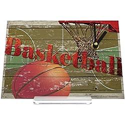 Reloj de escritorio Diversión aro de baloncesto Decoración Retro