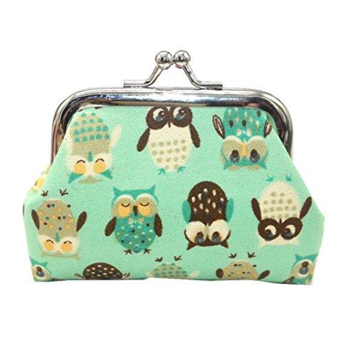 FORH Geldbeutel Frauen Geldbörse Kleine Brieftasche Clutch Geldbörse Mode Drucken kleine Haspe Portmonee Kupplungs Handtasche Clutch Bag Brieftasche (Grün)