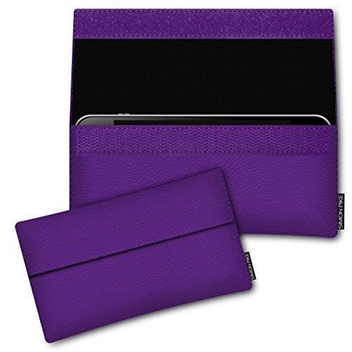 SIMON PIKE Kunstleder Tasche Newyork, kompatibel mit Siswoo i7 Cooper, in 01 lila Kunstleder